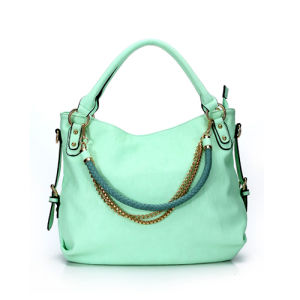 Candy Color Chain Satchel Woman Chain Bag (MBNO036101) pictures & photos
