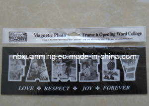 """6 Opening Word Collage """"Family"""" Magnetic Photo Frame"""