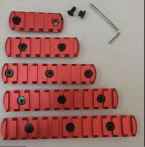 Red 5/7/9/11/13 Slots Aluminum Picatinny/Weaver Key Mod Handguard Rail Sections pictures & photos
