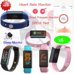 0.96 TFT Screen Waterproof Bluetooth Smart Bracelet with Blood Pressure X6 pictures & photos