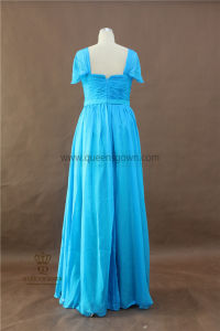 Long Bridesmaid Dresses Evening Dress Chiffon Evening Dress with Ruffle pictures & photos