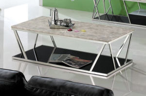 Modern Marble Top Stainless Steel Frame Coffee Table for Sale Cj018A pictures & photos