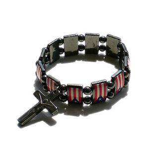 Hematite Rosary Bracelet with Flag Fotos pictures & photos