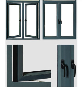Double Glazed Aluminium Casement Window Swing Window Aluminium Window