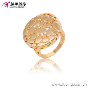 Simple 18k Gold-Plated Fashion Imitation Round Jewelry Finger Ring - 13618 pictures & photos