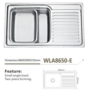 Stainless Steel Kitchen Sink Wla8650-E
