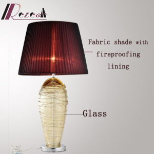 European Decorative Stainless Steel Table Lamp Around Glass Wire pictures & photos