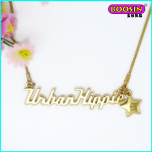 2015 Fashion Factory Wholesale Simple Silver Design Name Necklace pictures & photos