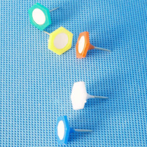 Coloured Plastic Hexagonal Push Pin (QX-HP004) 13*18mm pictures & photos