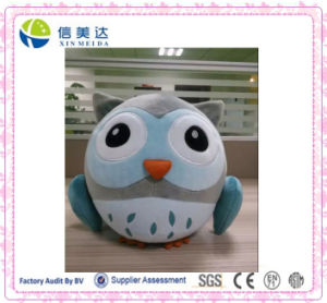 Cartoon Blue Fat Round Owl Plush Toy Plush Pendant pictures & photos