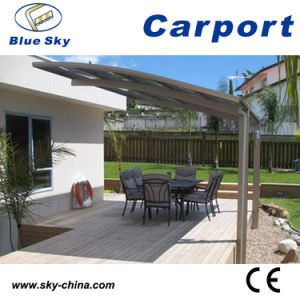 Modern Design Glass Roof Aluminum Carport (B800) pictures & photos