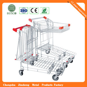 Js-Twt04 China Manufacturer Flat Warehouse Trolley pictures & photos