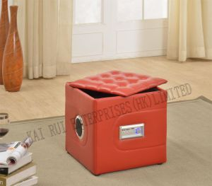 Music Storage Multifunctional Foldable Modern PVC Leather Ottoman pictures & photos
