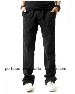 High Quality Men Straight Casual Linen Pants pictures & photos