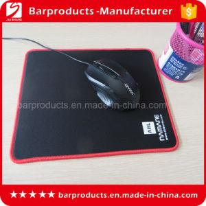 Black Polyester Fabrics Stitching Rubber Mouse Razer Pad