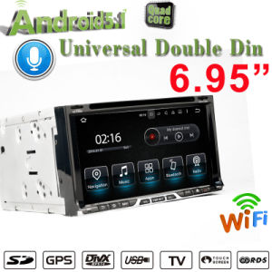 """Carplay 6.95"""" Android 7.1 Double DIN Universal Car DVD Player with Reverse Camera Support 3G/WiFi Bt pictures & photos"""