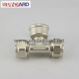 Brass Tee Compression Fitting for Pex Pipe