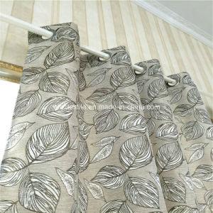 Typcial Circle Design Linen Similar 100% Polyester Curtain pictures & photos