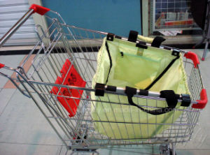 Foldable Shopping Grocery Bag for Supermarket Trolleys & Cart Carrier pictures & photos