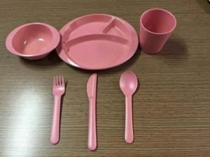 (BC-CS1069) Bamboo Fiber Tableware Set for Kids pictures & photos