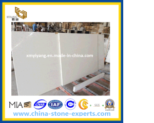 Artificial White Quartz Stone Slabs for Countertop, Vanity Top (YQ-090D) pictures & photos