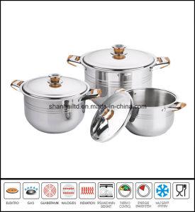 6PCS Large Stockpot Soup Pot Set pictures & photos
