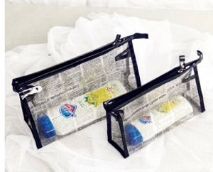 Eco-Friendly Clear Printing PVC Beach Bag, PVC Zipper Bag, PVC Cosmetic Bag pictures & photos