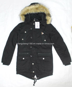 Men Winter Nylon Coat/Jacket with Fur Hoody