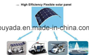 No Aluminum-Alloy Frame 100W Semi Flexible Solar Panel pictures & photos