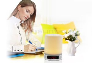 Night Lamp LED Bluetooth TF Mood Light Speaker with Alarm Clock Touch Screen pictures & photos