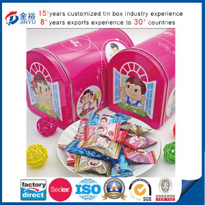 Japan Popular Candy Food Tin Container with Mail Box Shape pictures & photos