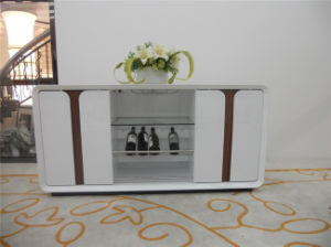 Meal Side Board Tempered Glass Door Cabinet pictures & photos