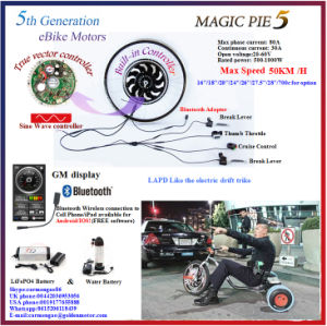 Bluetooth! Golden Motor Magic Pie 5 Hub Motor Electric Bicycle Conversion Kit pictures & photos