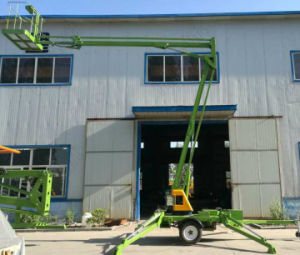 Outdoor Installation Hydraulic Small Lift Table Trailer Mounted Articulated Boom Lift pictures & photos