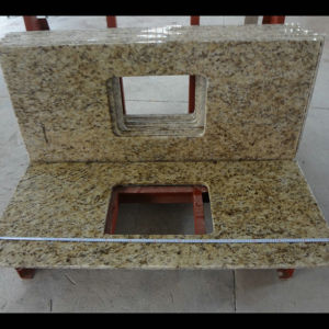 Giallo Ornamental Granite Bathroom Vanity Tops pictures & photos