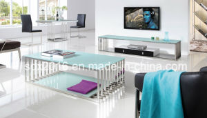 Rectangle Stainless Steel Glass Coffee Table pictures & photos