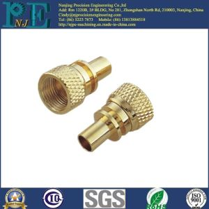 Customized Brass CNC Machining Coarse Diamond Knurl Parts pictures & photos