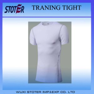 Compression Base Layer Short Sleeve Exercise T-Shirt Fitness Tights