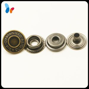 Customized Round Shape and Brass Metal Type Ring Snap Button pictures & photos