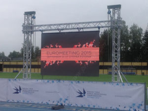Indoor/Outdoor Full Color Video Advertising LED Display Screen (500*500 mm/500*1000 mm panel) pictures & photos