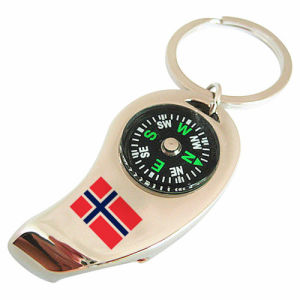 Norway Souvenir Promotional Compass Opener Key Chain with Falg Logo (F5002A) pictures & photos
