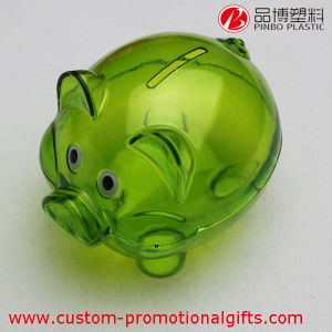 Promotion Gift Pig Fashion Plastic Transparent Money Box