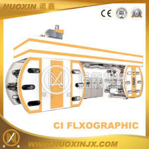 6 Colour Plastic Film Central Drum Flexography Printing Machine pictures & photos