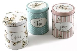 Round Food and Tea Tin Container pictures & photos