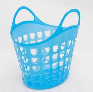 Plastic Hand Basket for Vegetable and Food pictures & photos