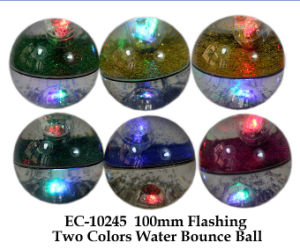 100mm Flashing Two Colors Water Bounce Ball pictures & photos