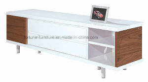 Wooden UV High Gloss TV Cabinet with Revolving Door (NS20-01) pictures & photos