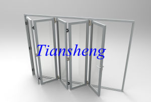 Aluminum Bifold Door/Aluminium Folding Door with AS/NZS2208 Certification pictures & photos