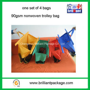 Customized Stock Color Nonwoven Folding Trolley Shopping Bag pictures & photos
