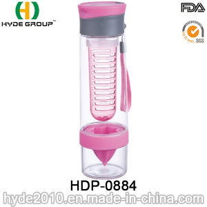 New Design Plastic Fruit Infuser Water Bottle, Tritan Fruit Infusion Water Bottle (HDP-0884) pictures & photos